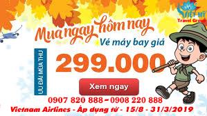 Vietnam Airlines giảm giá sốc chỉ với 299.000đ