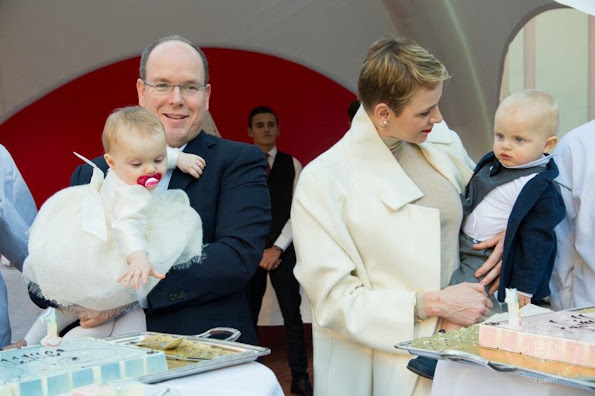 A surprise birthday celebration for Prince Jacques and Princess Gabriella on the occasion of their first birthday