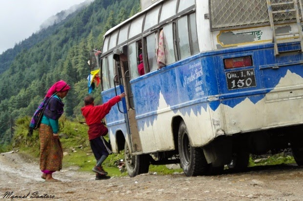 Sosta nei pressi del fiume Kali Gandaki