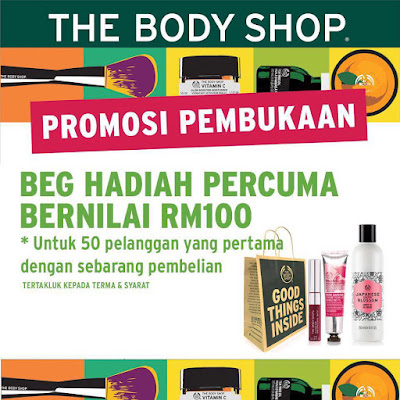 The Body Shop Malaysia Free Goodies Bag