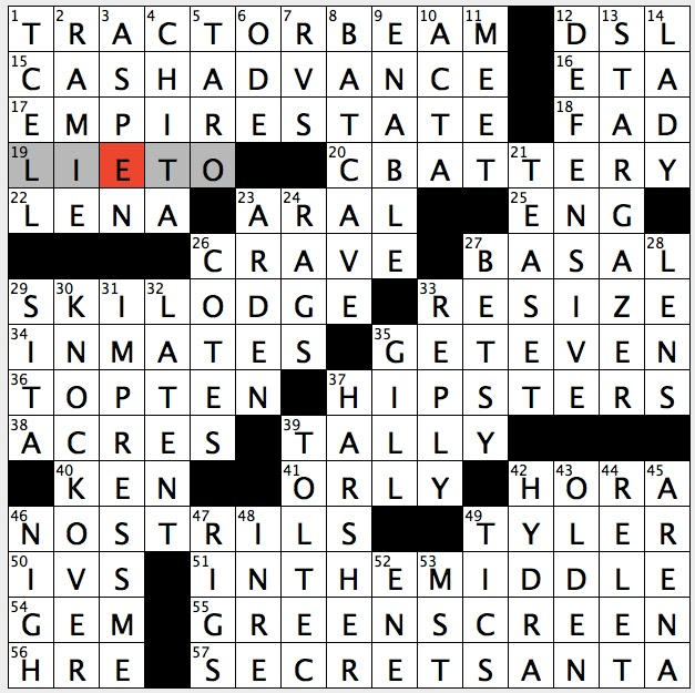 Rex Parker Does The Nyt Crossword Puzzle Actress Headey Of Game Of
