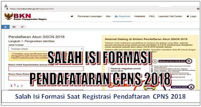 Salah Isi Formasi Saat Registrasi Pendaftaran CPNS 2018