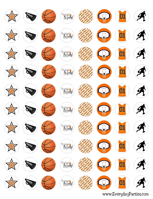 March Madness Basketball Kiss Labels by EverydayParties