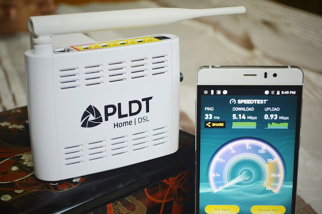 PLDT DSL Plan 999 5Mbps speed test