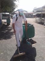 Ações de limpeza e de fiscalização na Feirinha do Alto em Teresópolis