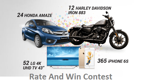 Rate And Win Prizes - Freebie Giveaway Contest - Win Reward