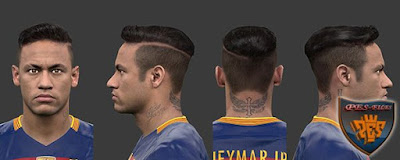 PES 2016 Neymar New Hair by HABIB10