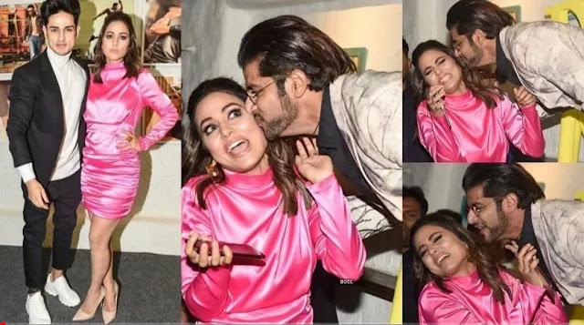 Karanvir Bohra surprised Hina Khan by kissing her
