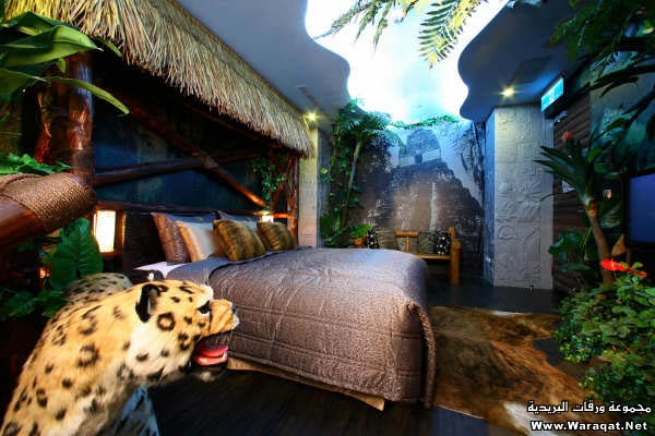bedroom design in jungle theme
