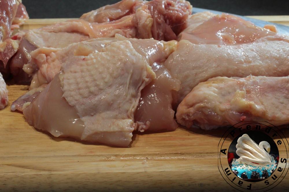 Comment couper un poulet (pas à pas en photos)