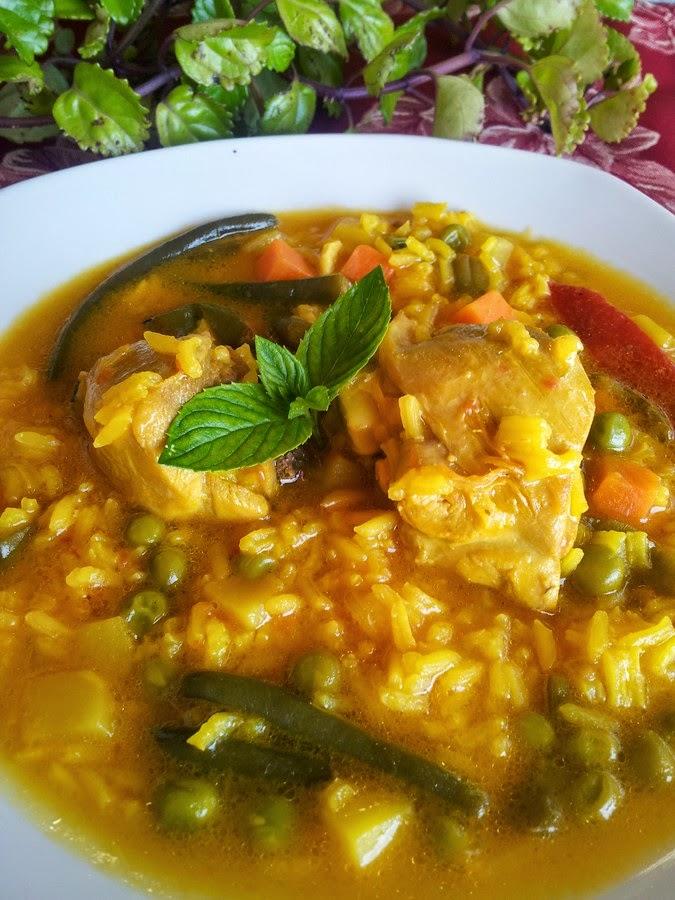 arroz caldoso con pollo