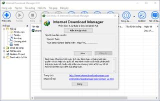 Internet Download Manager Update thường xuyên khi có build mới - Cập nhật 6.32 build 2