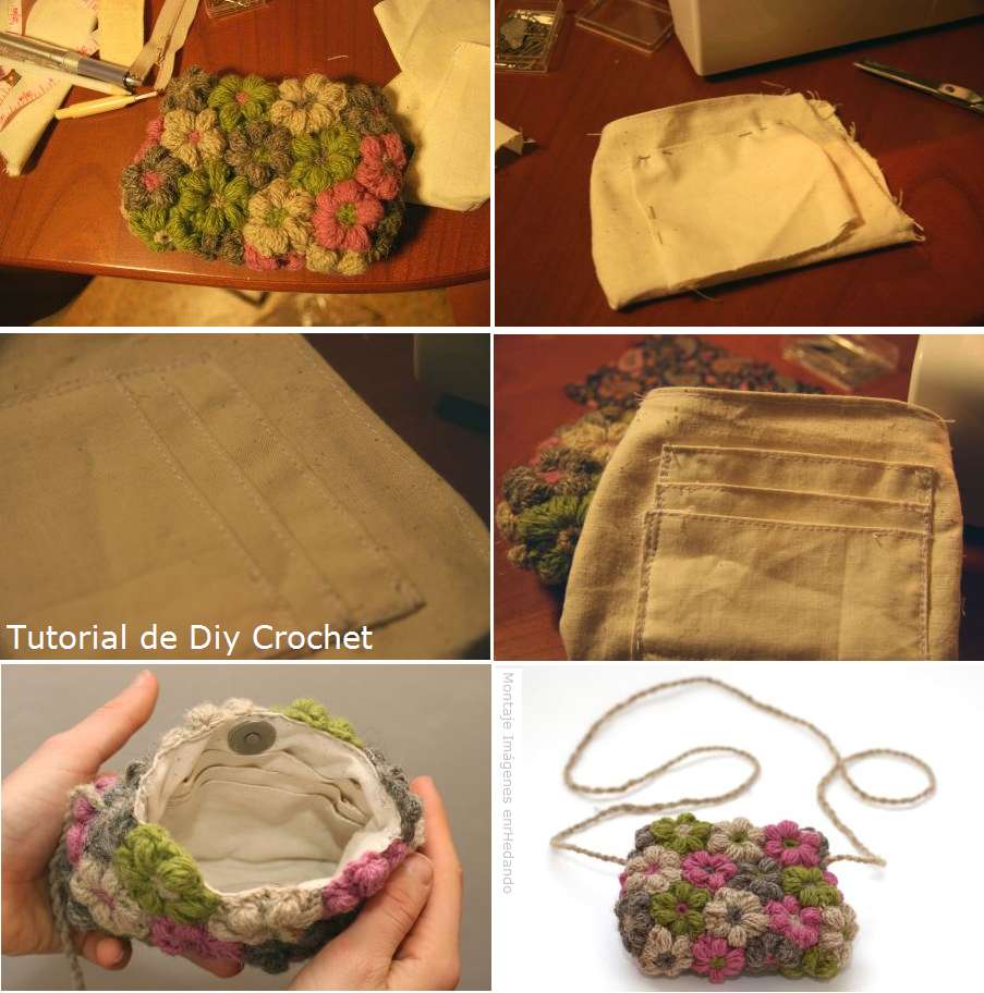 bolsos, flores crochet, motivos ganchillo, labores, diys