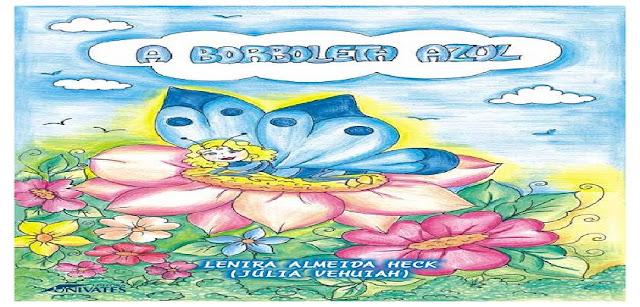 o livro conta a história de uma corajosa borboleta, no inicio aborda sua transformação de lagarta até borboleta de forma simples e de fácil entendimento, A borboleta Azul