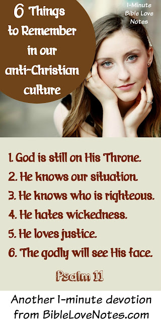6 Things To Remember In Our Anti-Christian Culture