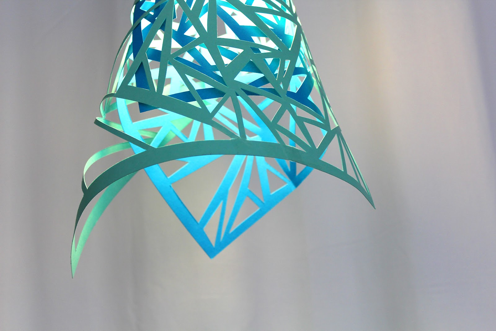nest diy paper cut lamps in our home. Black Bedroom Furniture Sets. Home Design Ideas