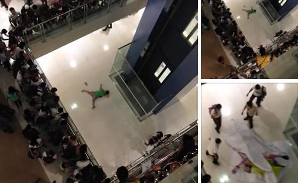 Woman Jumped to her Death from 5th Floor at SM Megamall