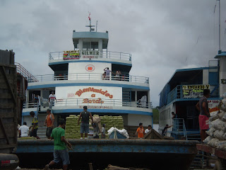 Barge at the docks in Iquitos