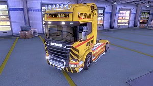 CAT skin for Scania Streamline