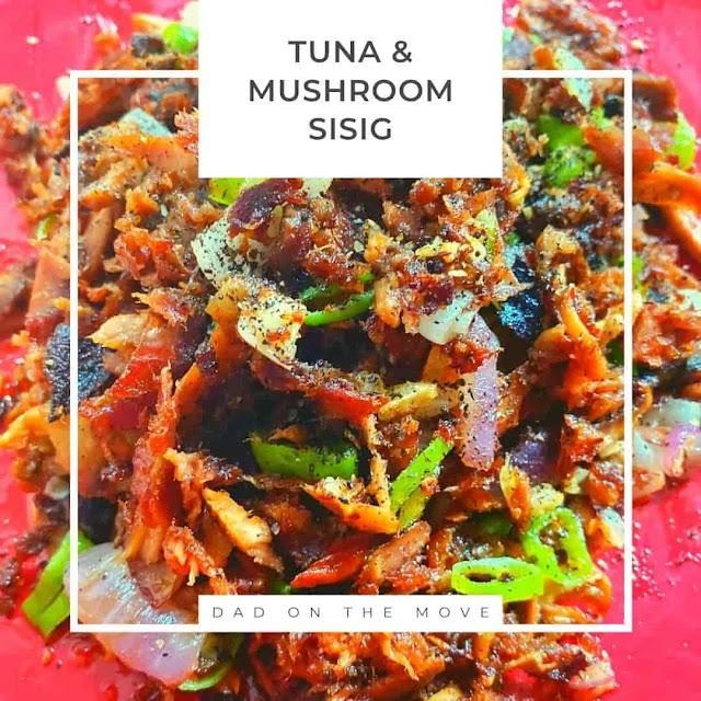 Tuna and mushroom sisig recipe