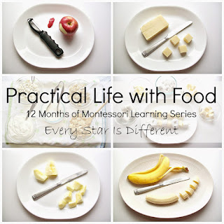 Practical life with food and winter treat ideas