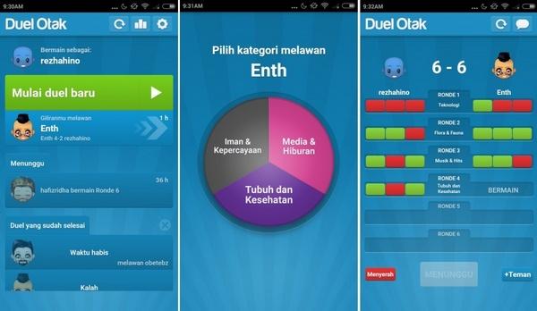 Game Duel Otak, Adu Kecerdasan Dengan Temanmu [Android]
