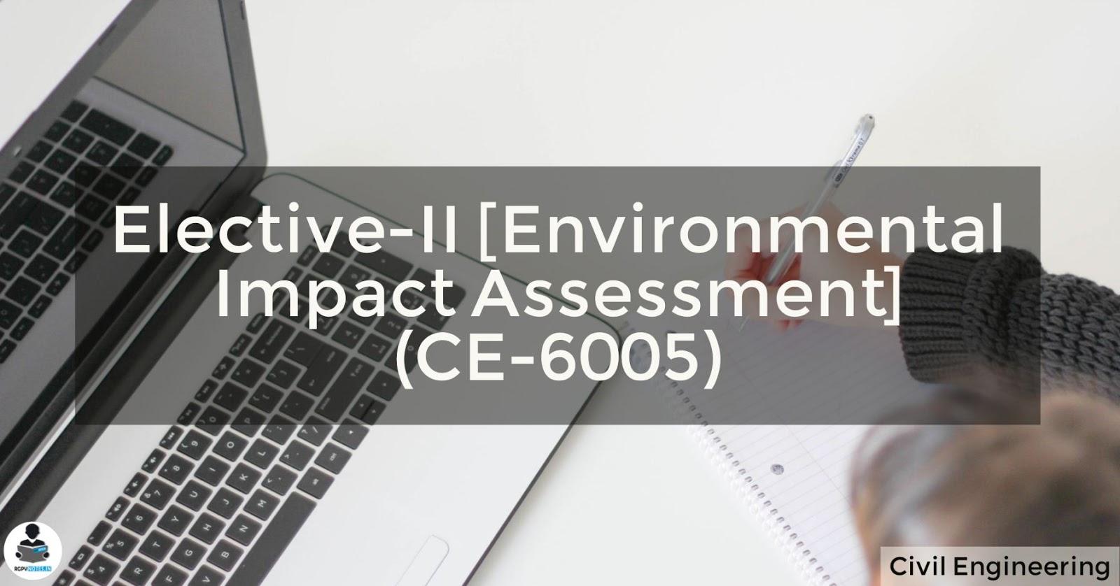 Environmental Impact Assessment (CE-6005)