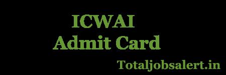 ICWAI Admit Card 2016