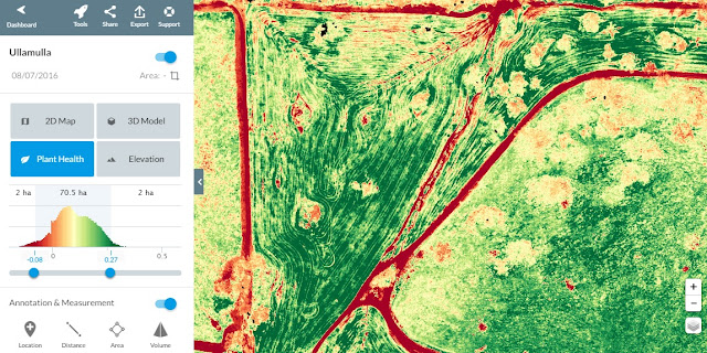 Gidgegannup Drone Scan Crop Health Monitoring using Drone Deploy