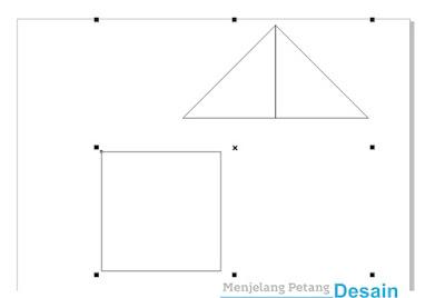 Buat dua segitiga berlawanan arah