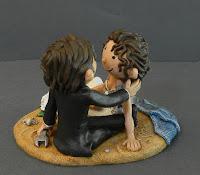 statuine sposini torta matrimonio simpatiche personalizzate orme magiche