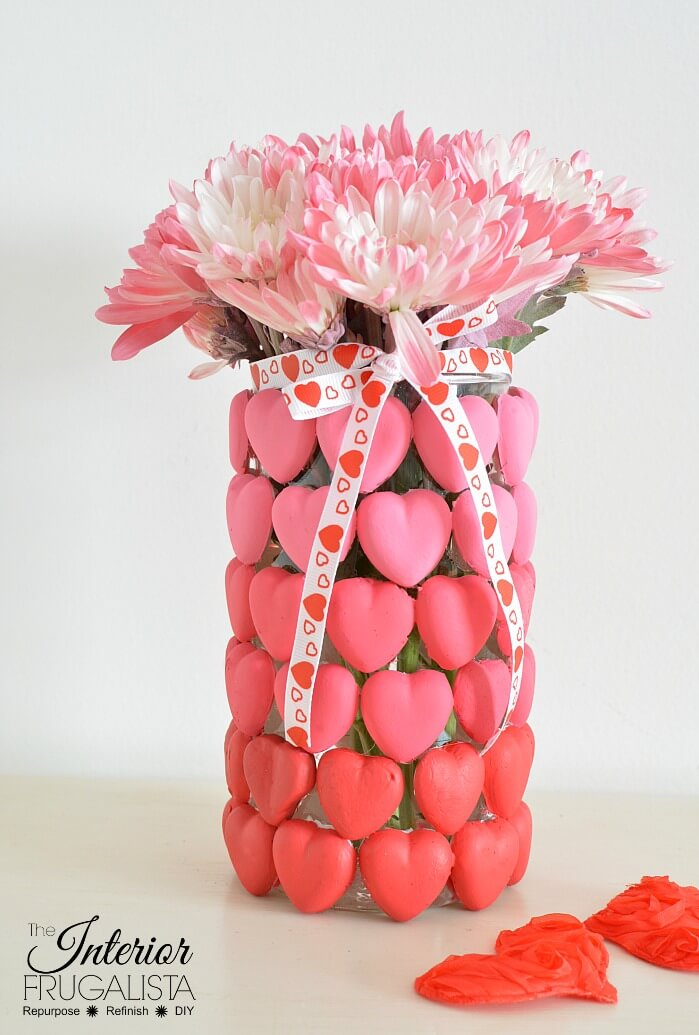 Ombre Valentine's Vase With Mod Melts
