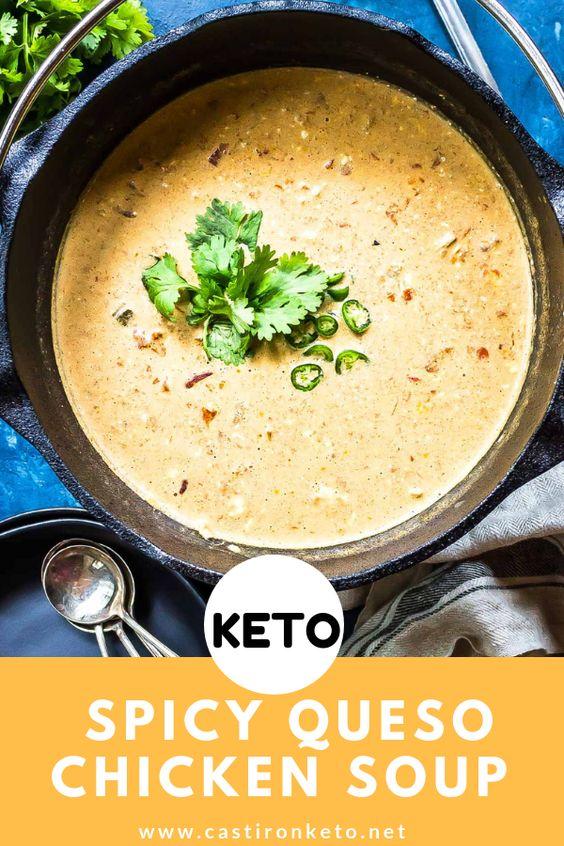 Keto Queso Chicken Soup