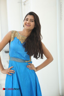 Telugu Actress Akshita (Pallavi Naidu) Latest Stills in Blue Long Dress at Inkenti Nuvve Cheppu Movie Promotions  0057.jpg