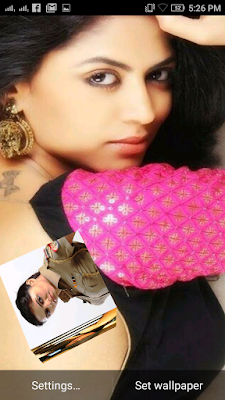 Kavita Kaushik 3D live Wallpaper For Android Mobile Phone