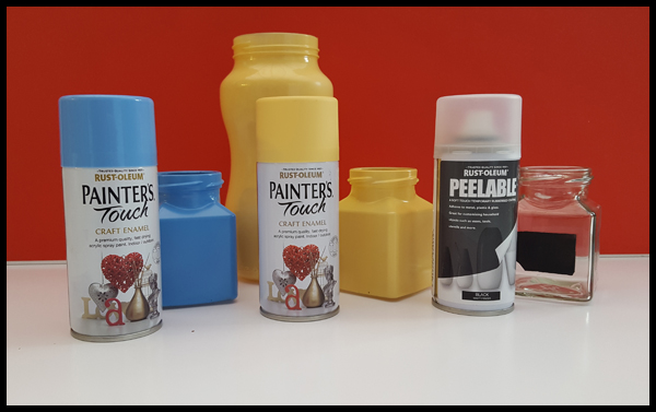 Rustoleum spray paints for glass jars