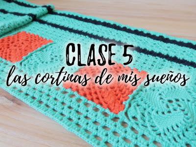 imagen cortinas crochet ahuyama