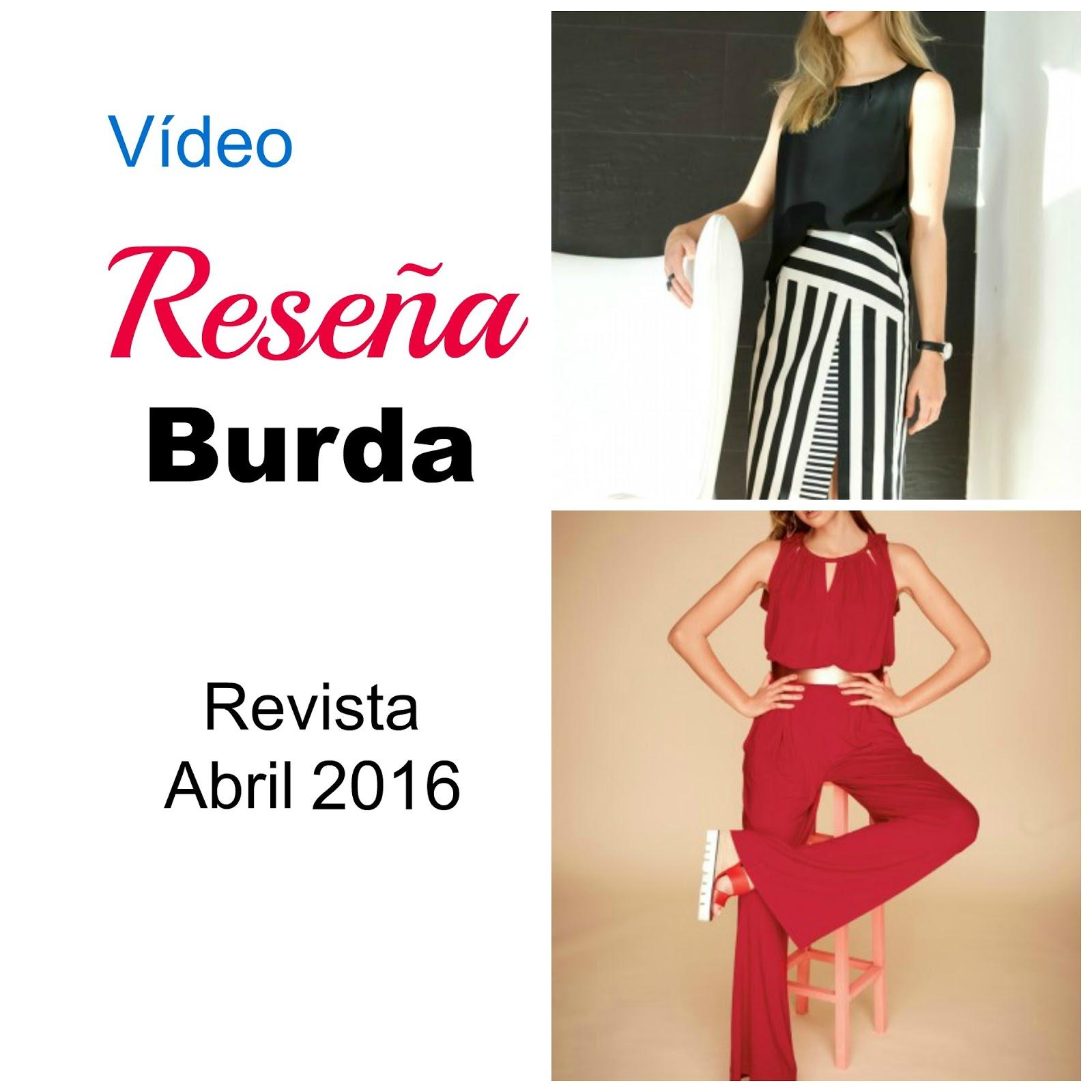 Vídeo reseña Burda Style Abril 2016 ~ Moda en la Costura