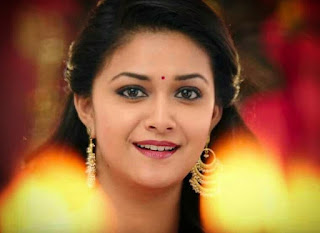 Keerthy Suresh with cute smile