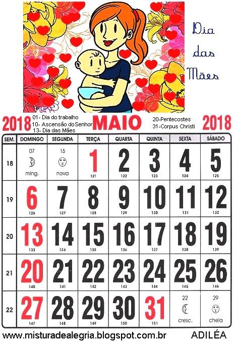 calendrio de 2018 ilustrado