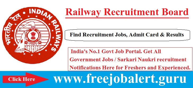 RRB Recruitment 2016-17 | 18252 Goods Guard | ASM | CA | TA Posts Selection process will be based on Written Test