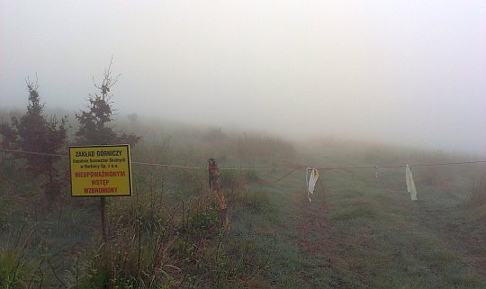 Teren górniczy kopalni melafiru pod Bukowcem.