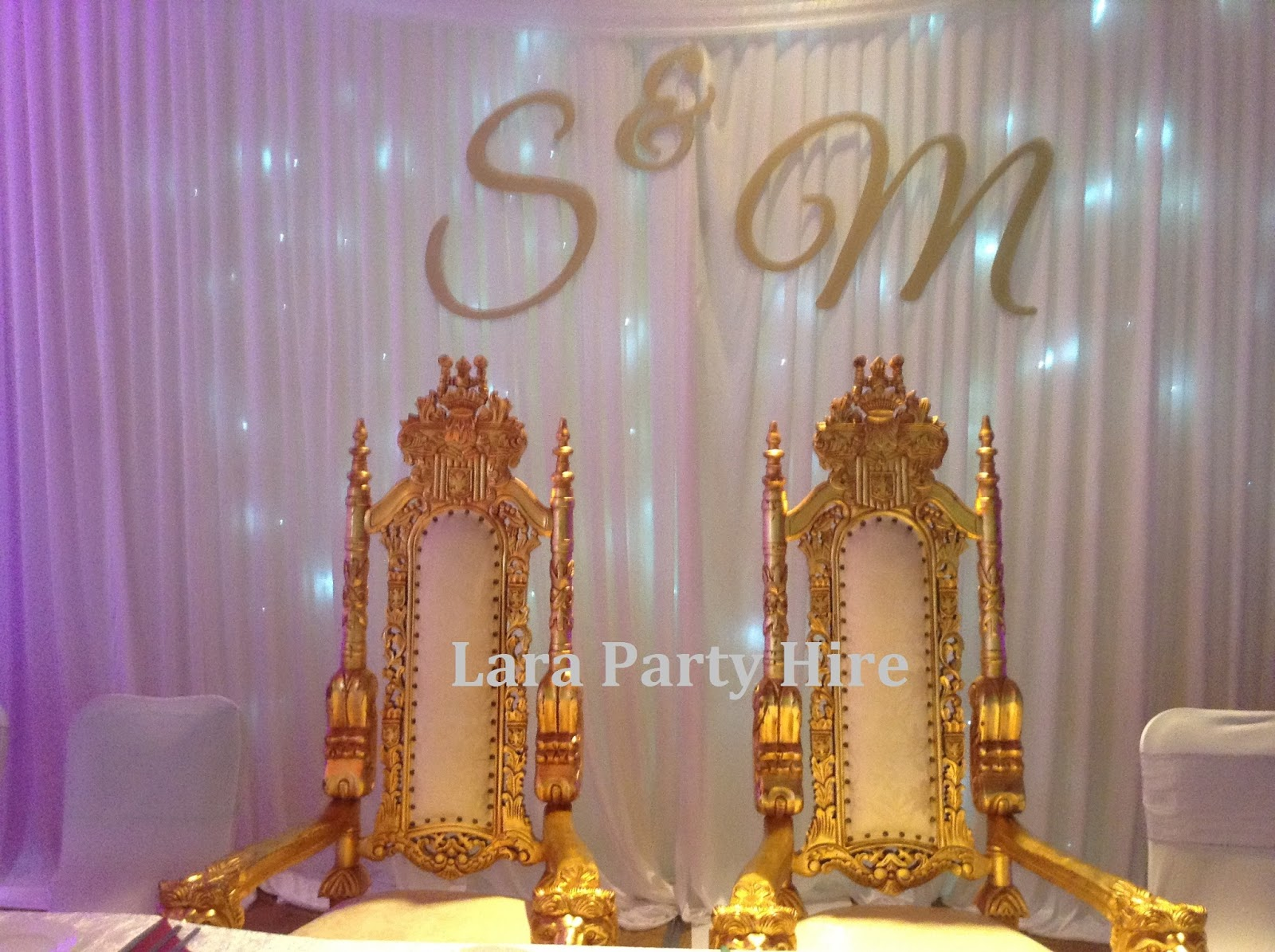 Lara Party Hire: Large Lion Head Throne Chairs