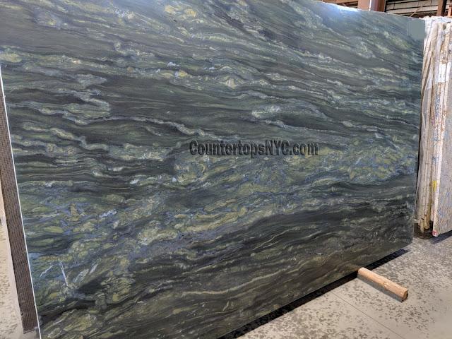 Verde Fantastico Granite Slabs For Kitchen Countertops NYC