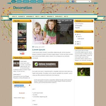 Decoration blogger template. template blogspot magazine style. download template girly blogger template