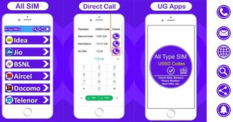 All Type Sim Network USSD Codes App will help to find out the USSD Mobile Codes