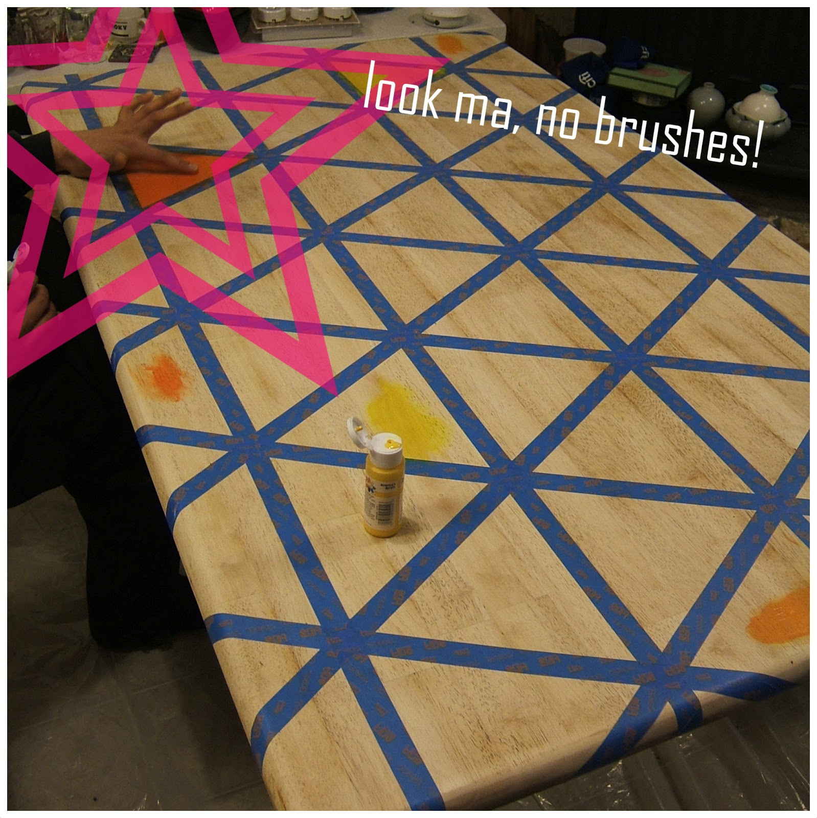 how to diy triangle pattern kitchen painted kitchen tables