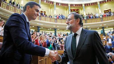 Pedro Sánchez (PSOE) y Mariano Rajoy (PP)
