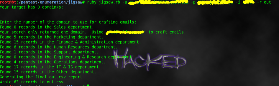 Creating custom username list & wordlist for bruteforciing