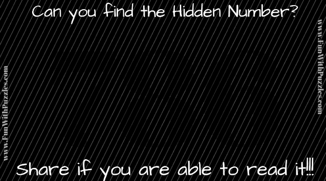 In this picture puzzle, your challenge is to read the hidden number in the given puzzle image